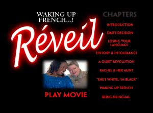 dvd menu waking up french
